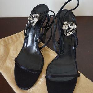 **Sergio Rossi Strappy satin heels**